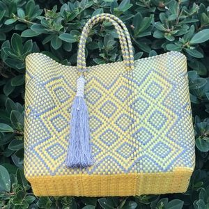 Handbags - Hand made medium recycled plastic beach bag